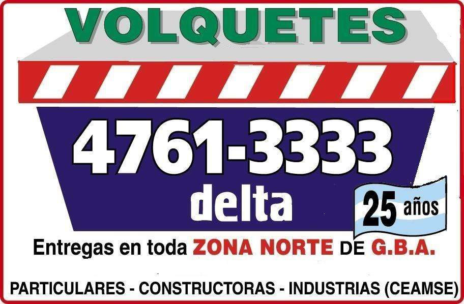 Alquiler de volquetes contenedores en zona norte GBA 47613333