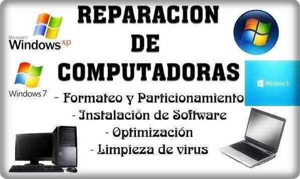 Reparación Y Mantenimiento Computadores A Domicilio Y Oficinas