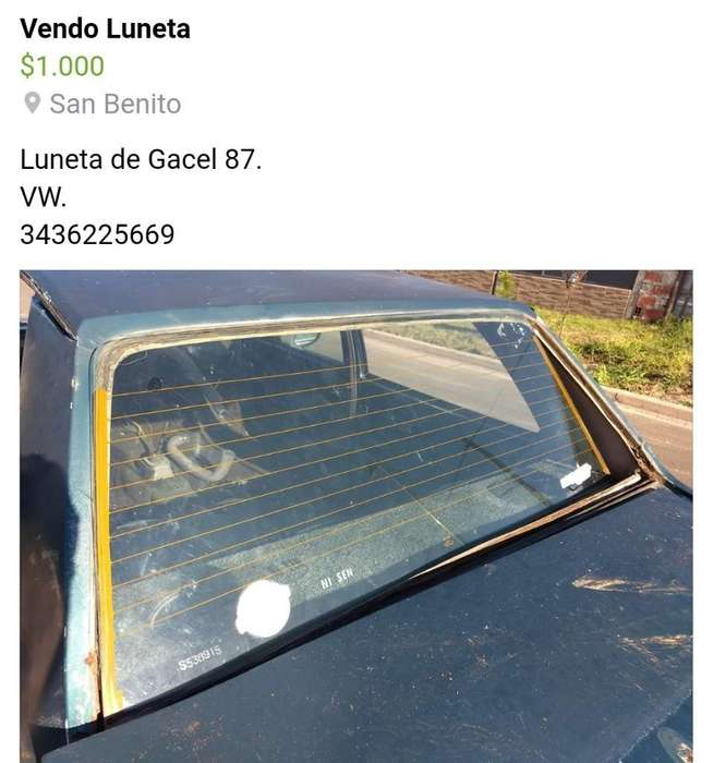 Luneta Gacel 87. Vw.