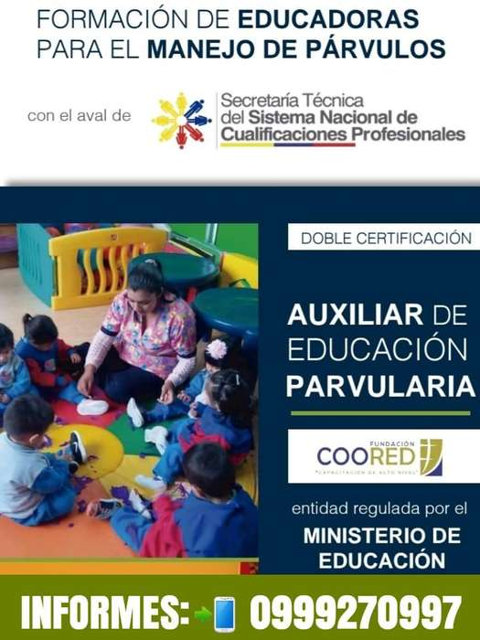 AUXILIAR DE PARVULARIA - SETEC - INFORMATE AL: 0999270997