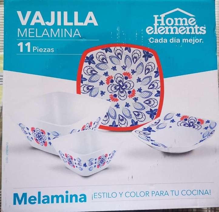 Vajilla Melamina