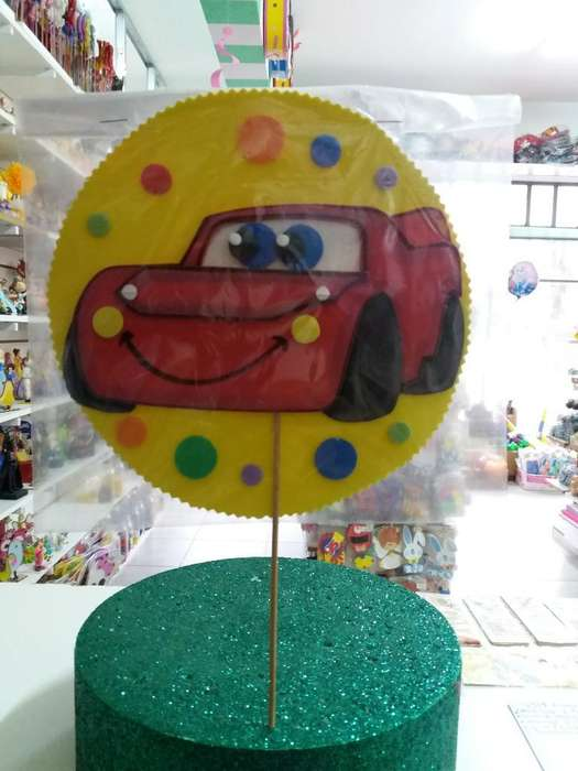 Adorno para Torta Cars en Goma Eva