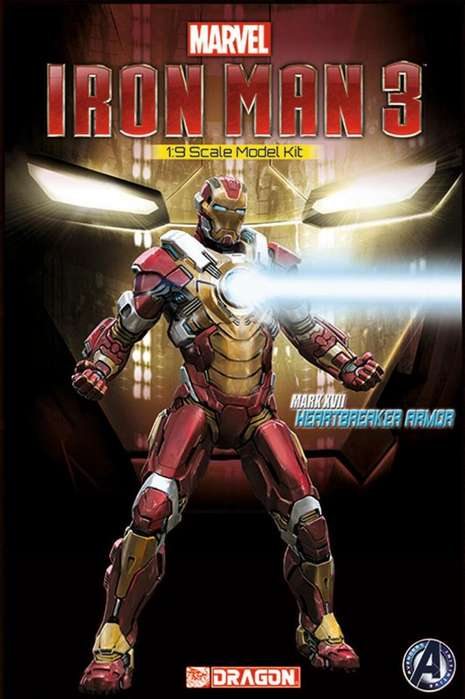 Dragon Iron Man 3 armadura HeartBreaker 1/9