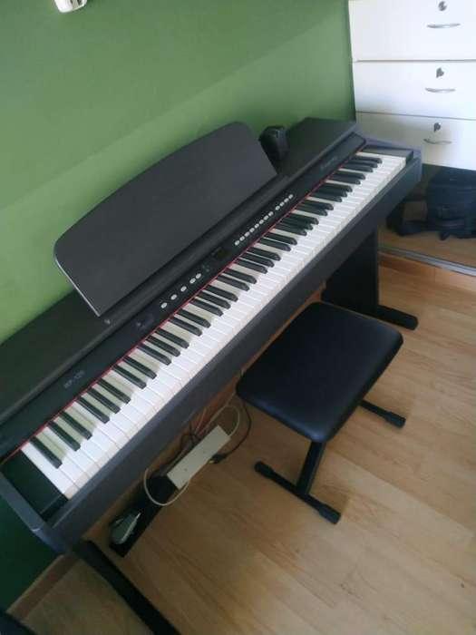 Piano Digital Electrico Rp120 88 Teclas Con Peso Banqueta
