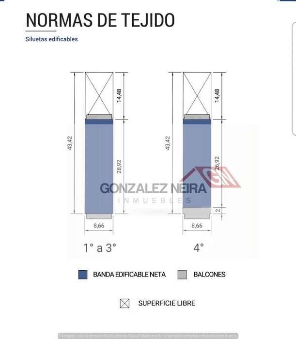 TERRENO APTO 900 MTS2 USAB2 POSIBILIDAD DE DOBLE FRENTE