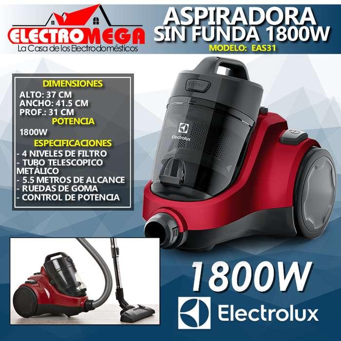 <strong>aspiradora</strong> De Polvo Sin Bolsa 1800w Electrolux Roja Eas31