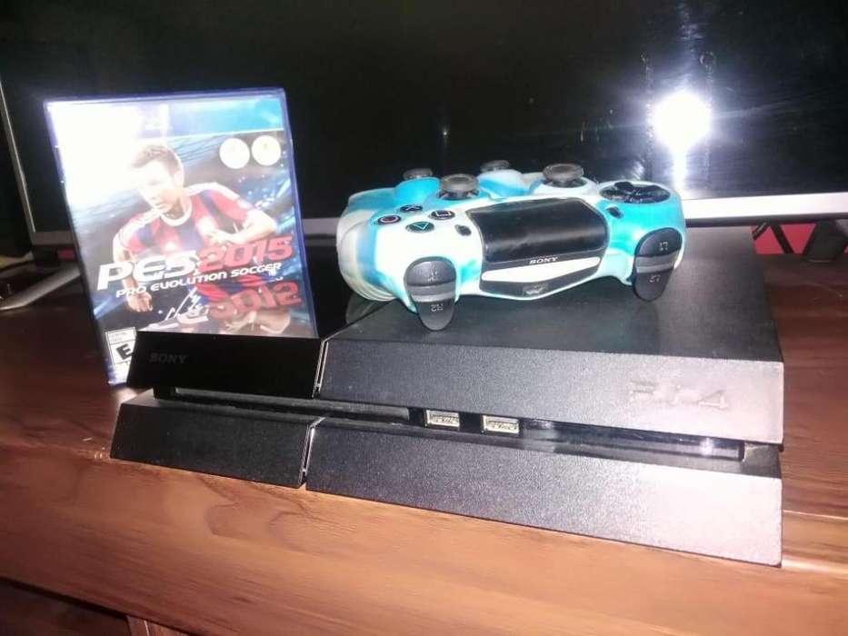 VENDO PS4 500 GB MAS 2 MANDOS Y JUEGO PES 2015