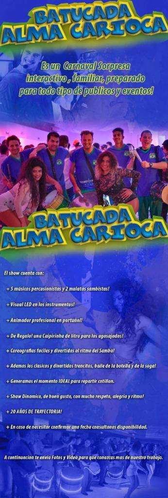 Animación para fiestas Batucada Alma Carioca