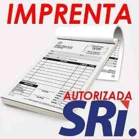 Imprenta autorizada SRI Facturas notas de venta retenciones liquidaciones guias
