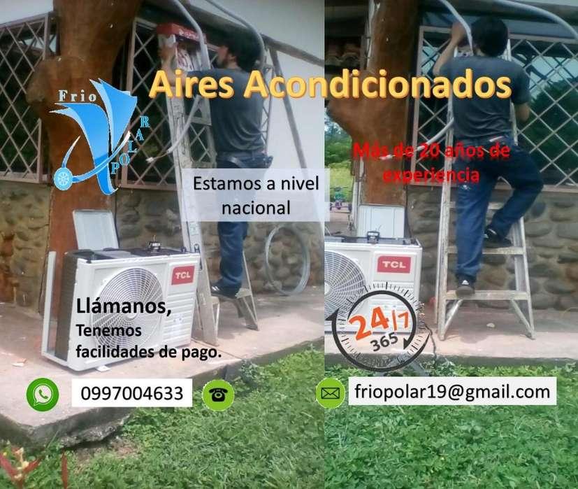 Técnico instalación reparación mantenimiento ventas repuestos de aires acondicionados.
