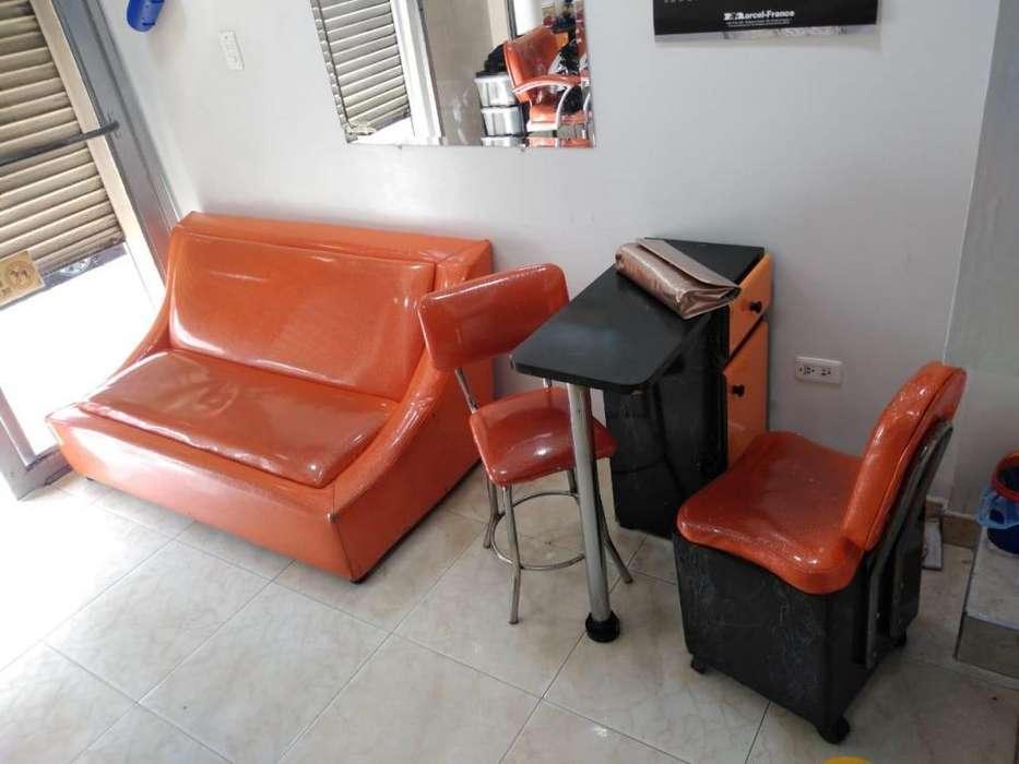 Juego de muebles completo para salón de belleza