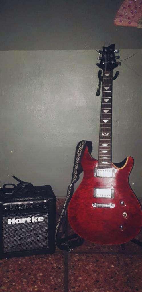 Guitarra Crimson  Amploficador Hartke