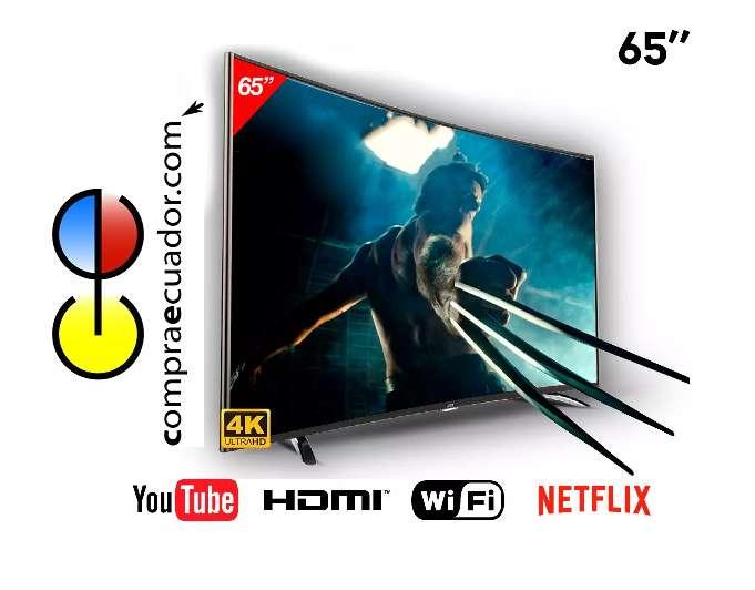 TCL Televisor Led 65 Smart Tv 4k Curvo Netflix Youtube Nuevo