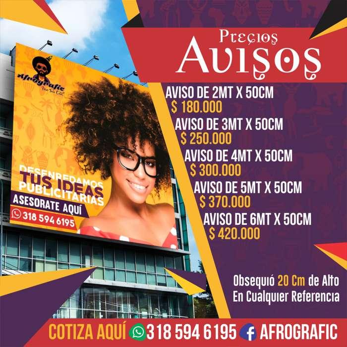 PRECIOS AQUÍ!! Publicidad, Roll Up, Rompetrafico, Tijeras, Pendones, Banner, Aviso Liminoso en Acrilico Backing