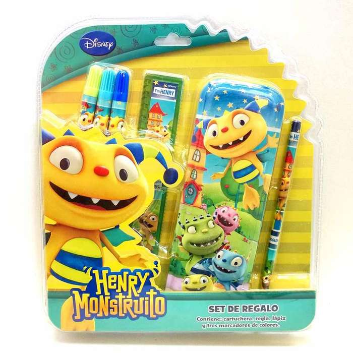 Set Escolar Henry Monstruito 2 Tipos