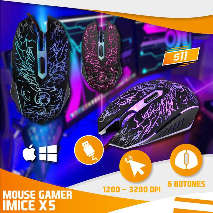 MOUSE GAMER IMICE X5