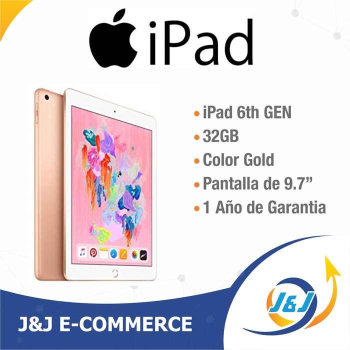 *** Nueva IPAD 6ta Generación de 32 GB Gold - Rosa Sellada Garantía Apple ***