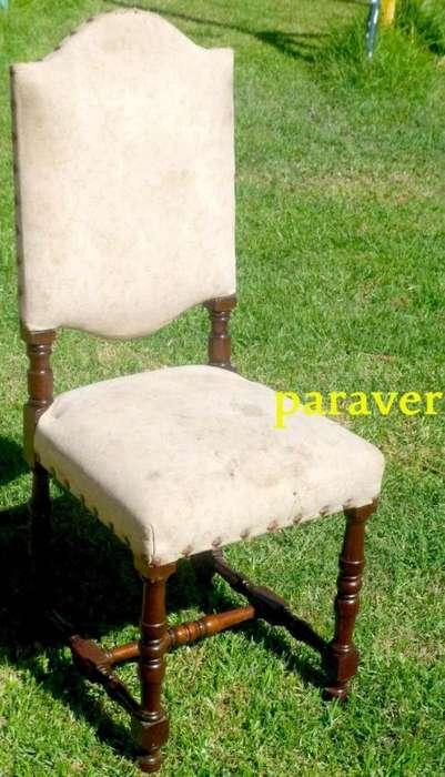 6 <strong>silla</strong>s estilo español en cedro y gobelino buen estado firmes, hay otros modelos mas
