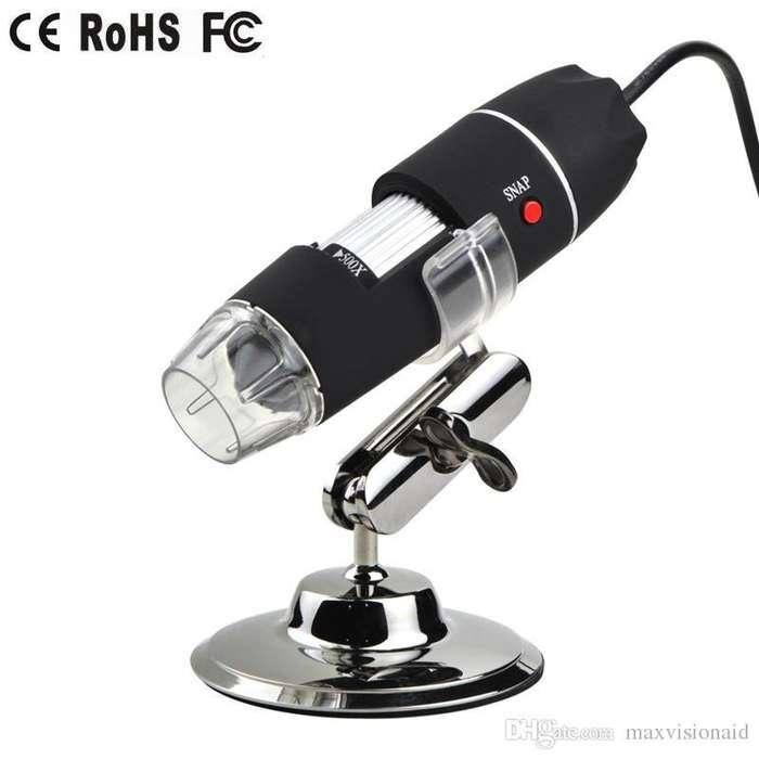 Microscopio Camera Digital Usb De 1600x Con Luz 8led 2mp