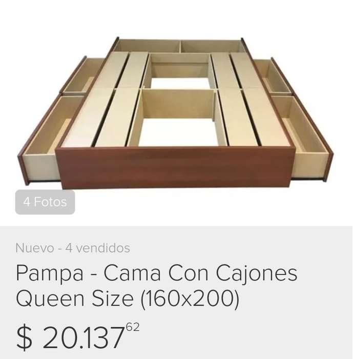 Cama Box con cajones (sin colchon) Negociable