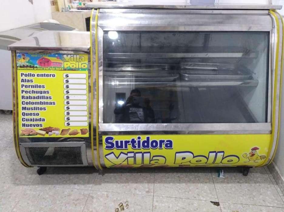 Se vende un enfriador panormico y un congelador horizontal