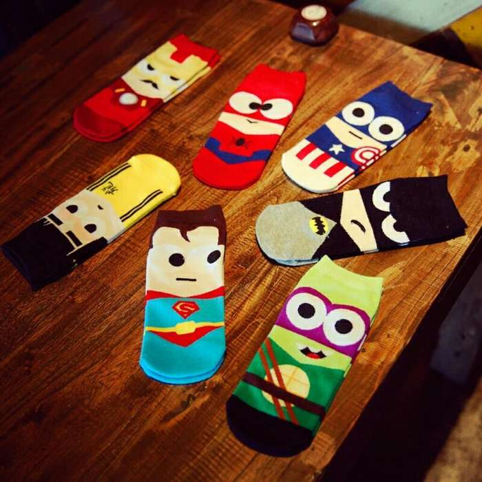 Medias Spiderman Ironman Tortuninjas superman batman etc de 34 a 40 talla estandar