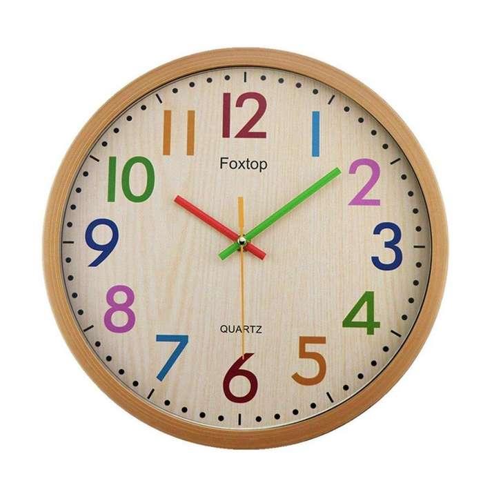 5304b06f5d81 Reloj Pared Decoración números Colores Plástico Hogar Envío Gratis