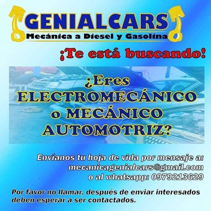 Se necesita MECÁNICO o ELECTROMECÁNICO para MECÁNICA Automotriz al norte de Quito.