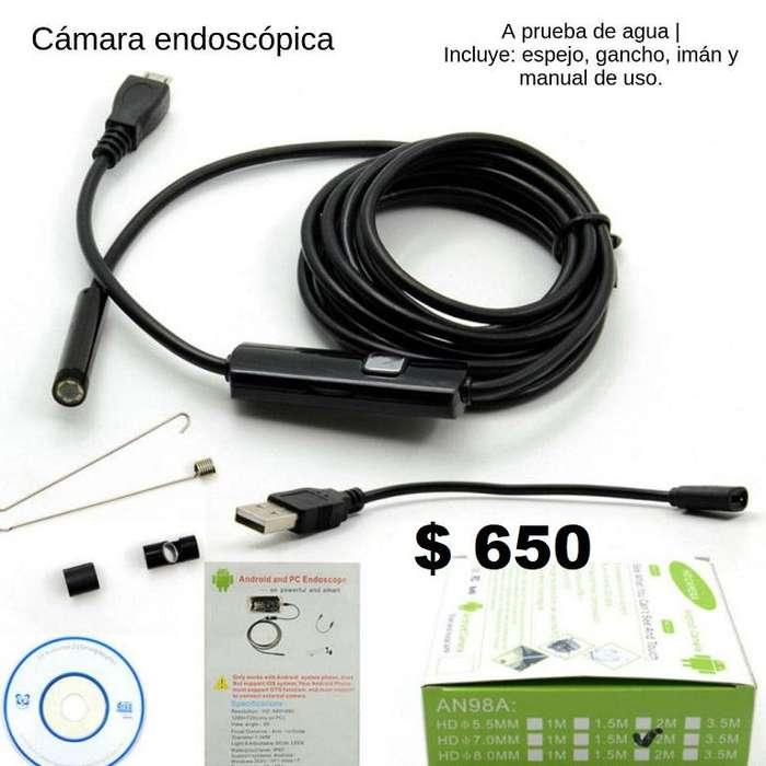 Camara endoscopica via telefono movil