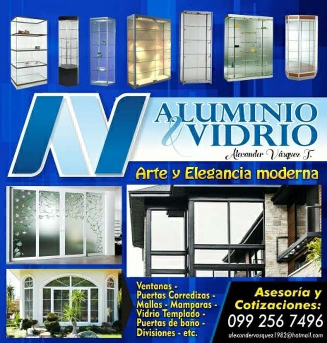 Aluminio Y Vidrio , Vitrinas, Muebles de Cocina, Ventanas, Puertas, Cortinas de Baño