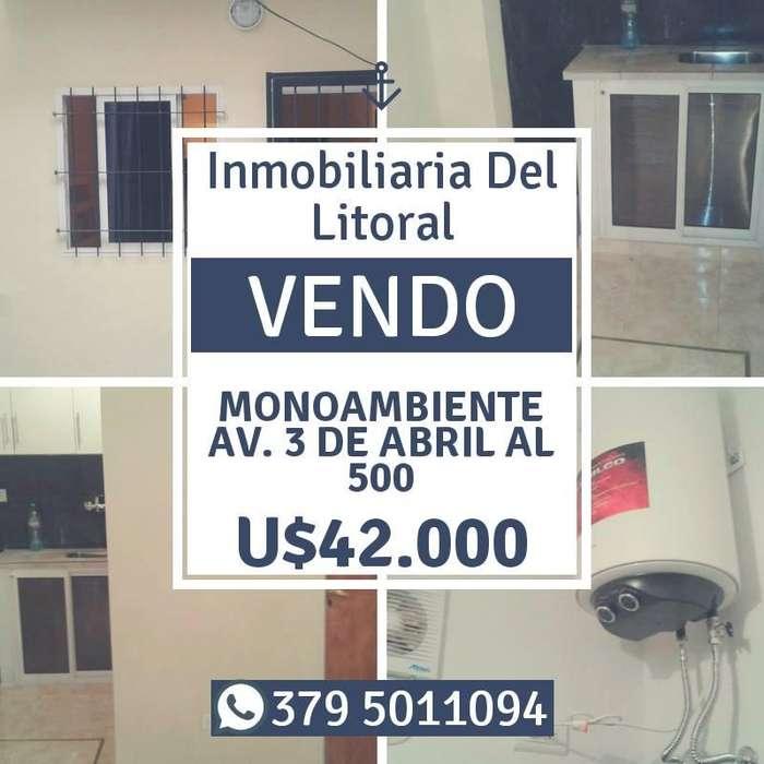 !!! VENDO !!! MONOAMBIENTE SOBRE AV. 3 DE ABRIL AL N500