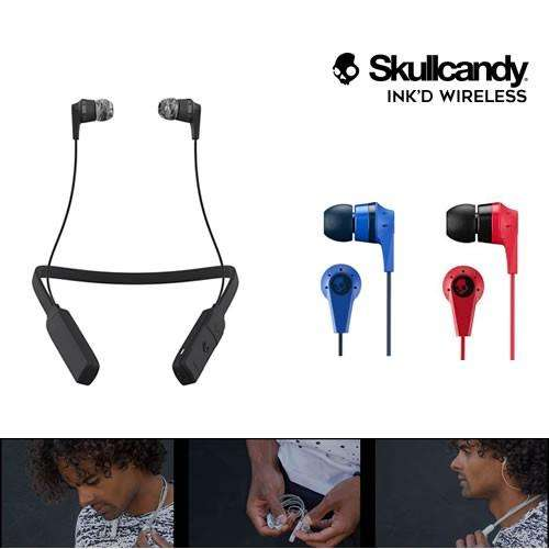 AUDÍFONOS SKULLCANDY INK'D WIRELESS <strong>bluetooth</strong> INALÁMBRICOS