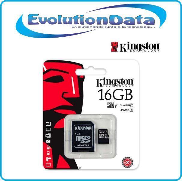 Micro SD Tarjeta MicroSD 16GB 32GB 64GB 128GB Kingston Clase 10