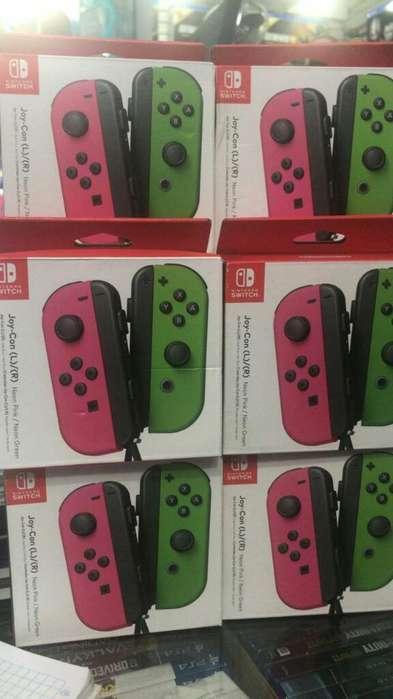 Joy con Neon Pink/neon Green Nintendo Switch Nuevo Sellado Stock