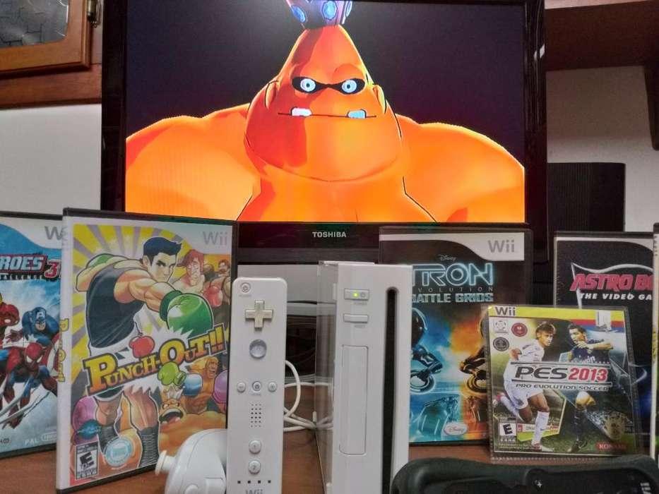 Nintendo Wii Chip Juegos Controles Full
