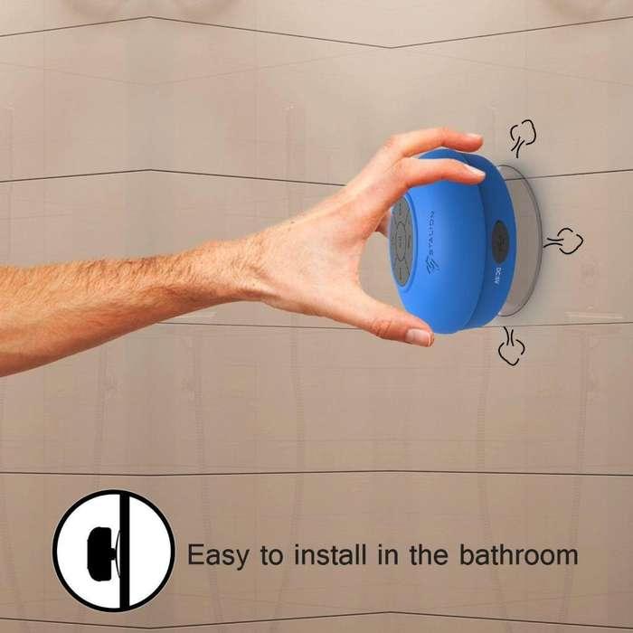 Parlante Para Baño Bluetooth Azul