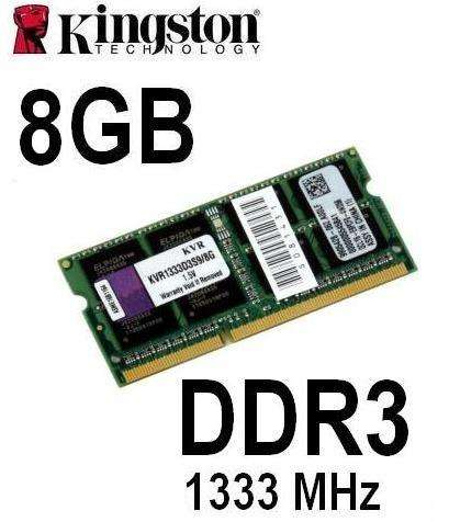 MEMORIA RAM KINGSTON DDR3 8GB PC3/10600 1333MHZ PARA LAPTOP O NOTEBOOK