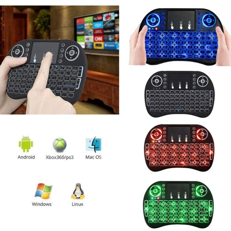 Mini Teclado Inalámbrico con Mouse Integrado Para Smart TV, Pcs, Smartphone etc.