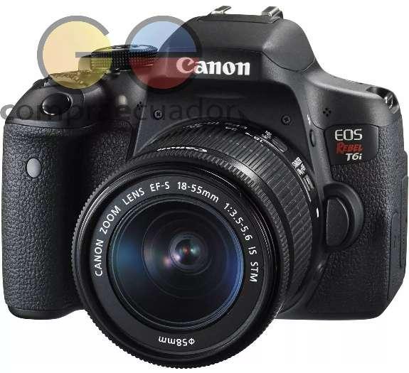 Canon Eos Rebel T6i Lente 1855mm Pantalla Touch 3 Fullhd