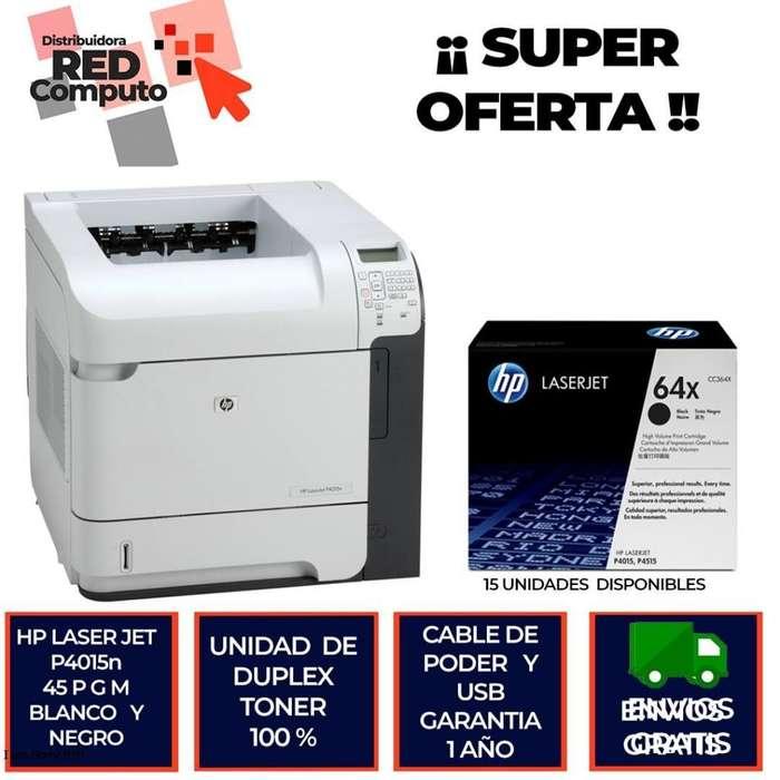 Impresora hp laser jet 4015