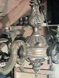 Imponente araña francesa 6 luces provenzal en bronce de 6brazos gran tamaño bronce pesada