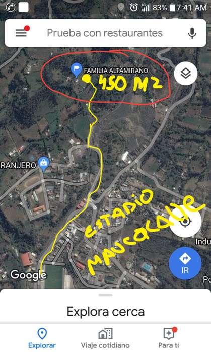 Venta de terreno en maucacalle metraje de 450M2 CEL921823087