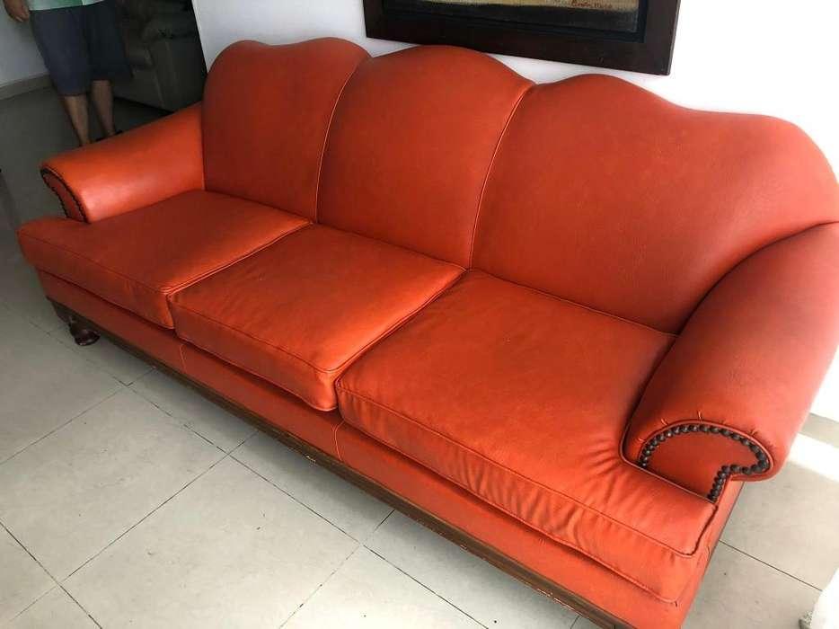 Sofa 3 Puestos Naranja