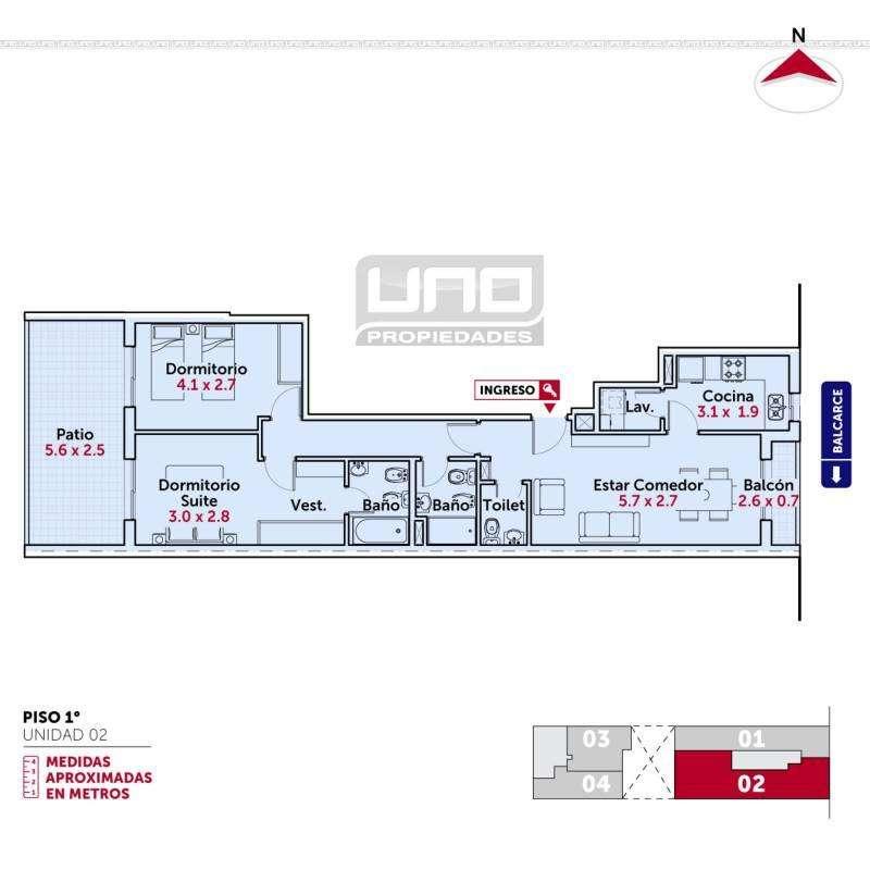 Balcarce y San Juan - Amplio Dpto de 2 Dormitorios Externo. Cochera disponible. Vende Uno Propiedades