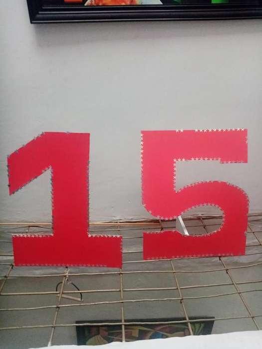 Numero 15 en Madera