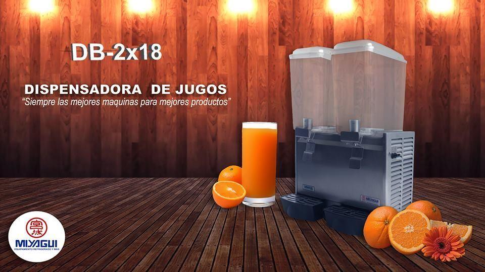 Dispensadora de Jugos Ganiku DB2x18 NUEVA refresquera chichera dispensador bebidas jugos refrescos