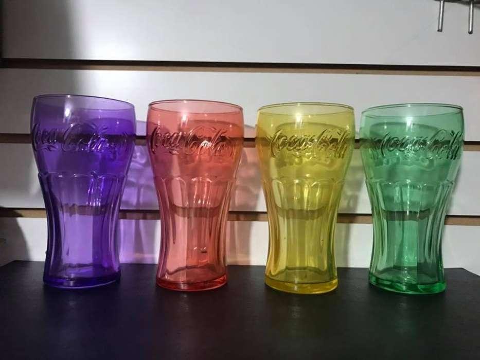 Juego de Vasos Colores Coca Cola