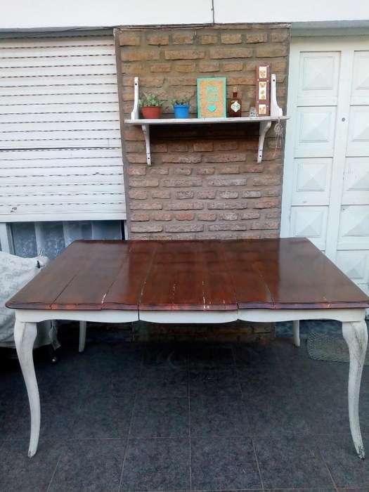 Mesa Antigua Reciclada Buen Estado