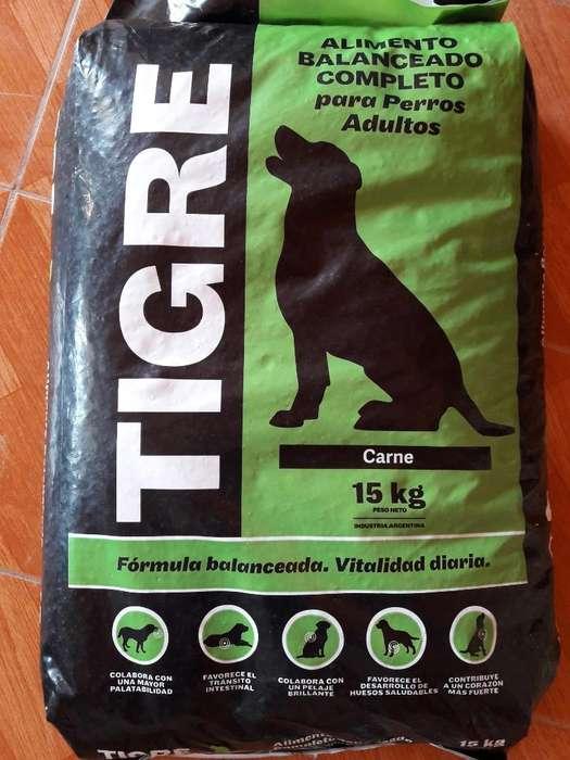 Alimento P/perro Tigre X15kg,acercamos