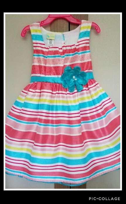 Vestido Elegante Para Niña Talla 5t Ropa Americana